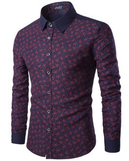 Wholesale casual oxford men long sleeve slim fit design cotton shirt