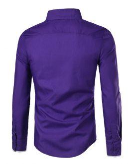 Wholesale casual oxford men long sleeve slim fit design cotton shirt