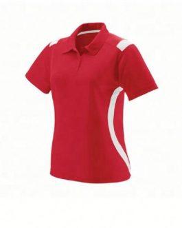 High quality dry fit cotton fabric custom short sleeve women polo t shirt