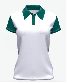 High quality dry fit polyester Mass fabric custom short sleeve women polo t shirt