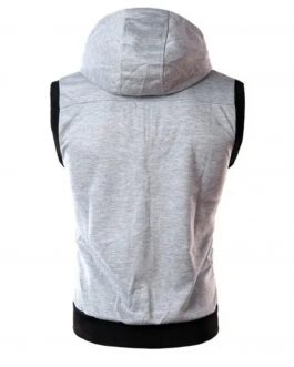 Wholesale Price Mens Custom 100% Cotton Sleeve less Hoodie ,New Design Cheap Mens Sports Hoodie 100% Cotton (Copy)