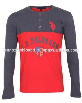 High quality Factory price 100% Cotton t-shirt Custom logo digital printing silk screen printing men t-shirt long sleeve