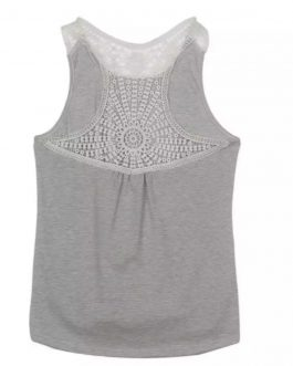 New Design Custom Women 100% Cotton Plain Gym Vest Tank Top