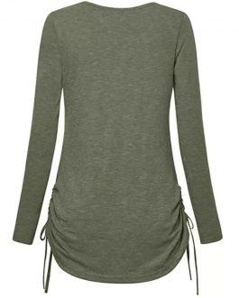 Wholesale Clothing Custom T-shirt Stipe O Neck T Shirt Women