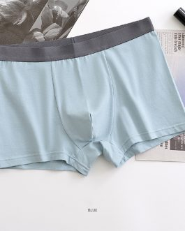 Custom 95% combed cotton 5% spandex breathable comfortable underwear boxers men underwear