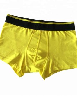 Men's Solid Color Elastic Band Boxer Briefs Collection