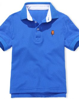 Wholesale 2020 New Fashion Polo Shirts Customized Logo for Kids Boys