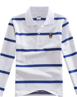 Hot new products striped t-shirt long sleeve polo shirt boys kids shirt boys comfortable
