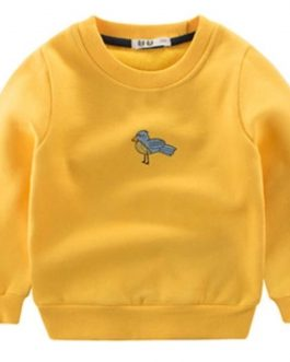 2020 Autumn Cotton Blank Girls Boys Kids Crewneck Sweatshirt