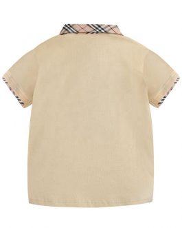 2020new boys kids, Girls, polo collar plaid tshirt short sleeve for summer dropshipping