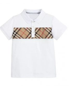 brand dress branded clothes 2020new kids boys and Girls plaid short sleeve cotton white poloshirt collar cotton