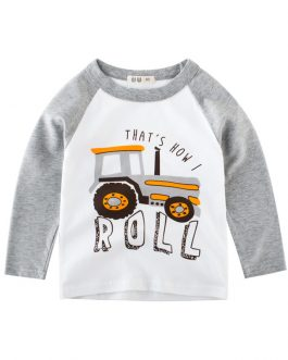 wholesale 2020 fashion kids boys t shirt 100% cotton long sleeve baby boys t shirt