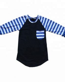 Boutique Baby Boy Girls Stripes Raglan Blouse Children Fall Cotton Tops Wholesale Boys T-shirt