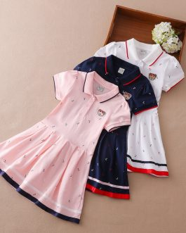 Casual Girls All Over Printed Cotton Short Sleeve Polo Shirt Collection