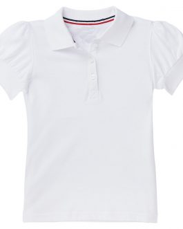 Latest Girls Solid Puff Short Sleeve Polo Shirt Collection