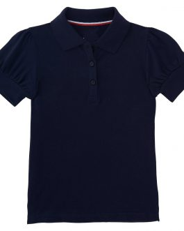 Girls Puff Short Sleeve Solid Plain Polo Shirt Collection