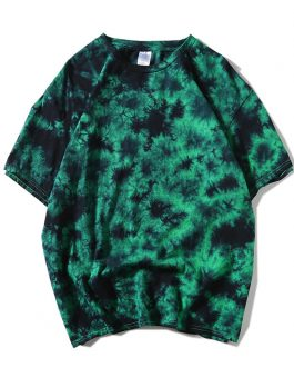 Streetwear T Shirt Printing Tie Dye Short Sleeve Men's Casual T shirts