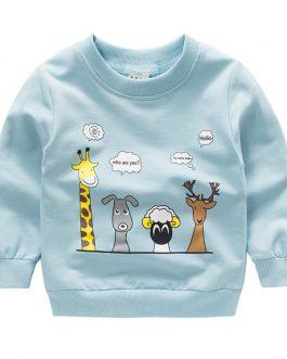 Casual Spring Fashion Kids Cartoon Print Children's Sweatshirt