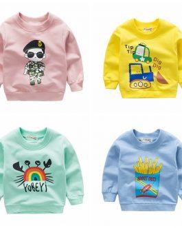 New Fashion Casual Kids Autumn Cartoon Print Children's Sweatshirt