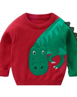 Dinosaur Printed New Fashion Boys Long Sleeve Sweatshirt