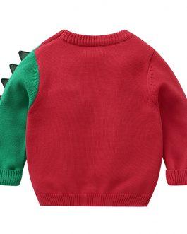 Dinosaur Printed New Fashion Boys Long Sleeve Sweatshirt