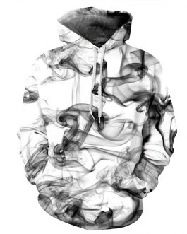 Best Selling In Usa Market Polyester And Spandex Smoke and Chest Printing Mens Hoodies Sports