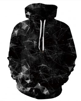 Diamond Crystal RGB Printing Men's Casual Hoodies Made of Polyester And Spandex