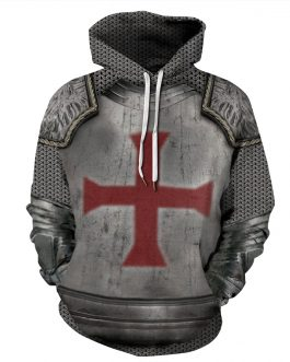 Crusader Printing Men's Casual Hoodies Made by Polyester And Spandex