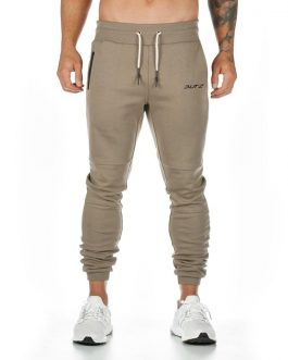 Premium Track Pants Custom Tapered Fit Sweatpants Zipper Pocket Men Jogger Pants