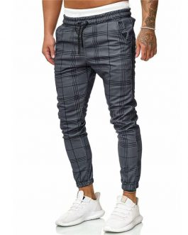 Track Pants Custom Tapered Fit Sweatpants Zipper Pocket Men Jogger Pants