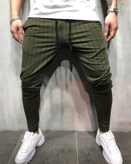 Strip Track Pants Custom Tapered Fit Casual Zipper Pocket Jogger Pants