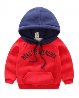 Children Casual Plain Boys Custom Print Hoodies Collection