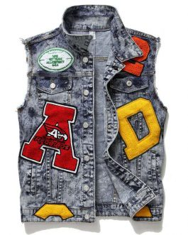 Custom Design Hip hop Streetwear Male Men Denim Jeans Jacket Collection