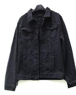 Latest Design Casual Custom Plain Mens Black Denim Jean Jacket Men Collection