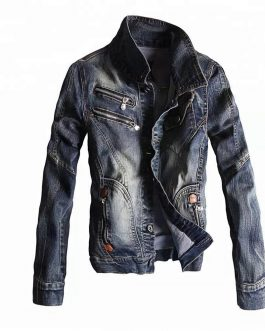 Latest Design Casual New Style Washed And Worn Top Denim Jacket Men Collection
