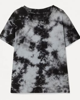 Latest Unisex Streetwear T Shirt Printing Tie Dye Short Sleeve Men's Hip Hop T shirts