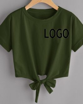 Bottom Lace Knot Summer Hip hop Short Sleeve T-shirt Collection