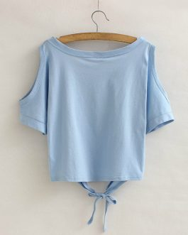 Crop Sleeve Bottom Lace Knot Summer Hip hop T-shirt Collection