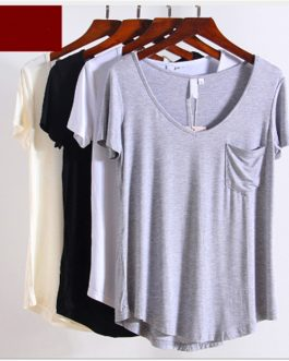 Solid Color Loose fitting Short Sleeve Summer Casual T-shirt Collection