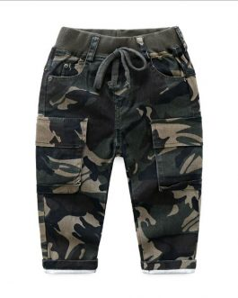 Boys Trousers Spring And Autumn New Multi-Pocket Camouflage Casual Trouser Collection