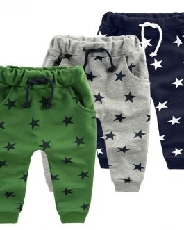 Fashion Children Pants Boy Trousers Collection Spring Autumn Kids Clothes Toddler Star Print