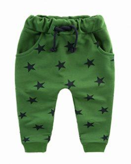 Children Pants Boy Trousers Spring Autumn Kids Clothes Toddler Star Print