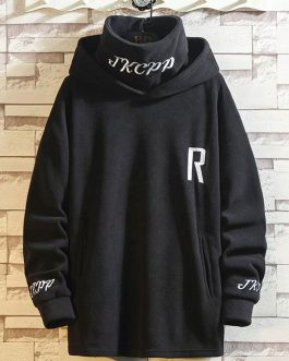 Mens Printed LOGO Oversized High Neck Fleece Fashion Sportswear Men Hoodies Collection