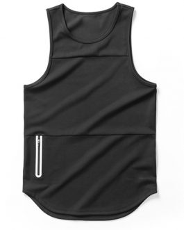 Bottom Style Running Sports Fitness Men Tank Top With Pocket Collection