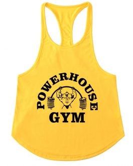 Latest Hem Style Printed Mens Gym Fitness Stringer Tank Top Collection
