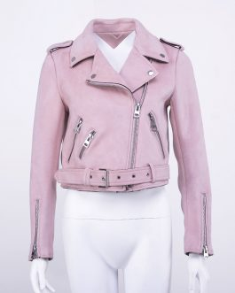 Stylish Women Pink Color Denim Crop Jeans Jacket Collection
